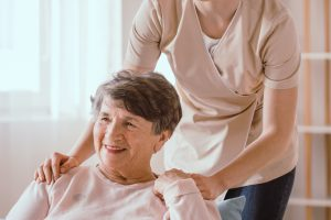 Helping older woman